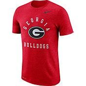 Nike Men's Georgia Bulldogs Red Marled Raglan T-Shirt