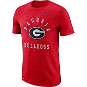 Nike Men's Georgia Bulldogs Red Marled Raglan T-Shirt