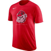 Nike Men's Georgia Bulldogs Red Retro Logo Basketball T-Shirt
