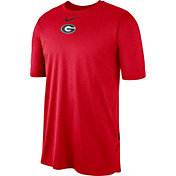 Nike Men's Georgia Bulldogs Red Player Dri-FIT TechKnit T-Shirt
