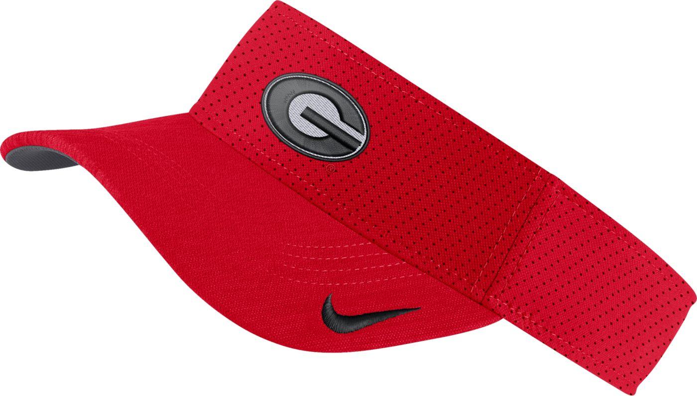 Nike Men's Georgia Bulldogs Red AeroBill Football Sideline Visor