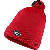 Nike Men's Georgia Bulldogs Red Football Sideline Pom Beanie