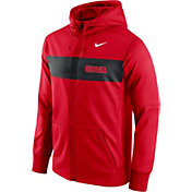 Nike Men's Georgia Bulldogs Red Therma-FIT Full-Zip Sideline Hoodie