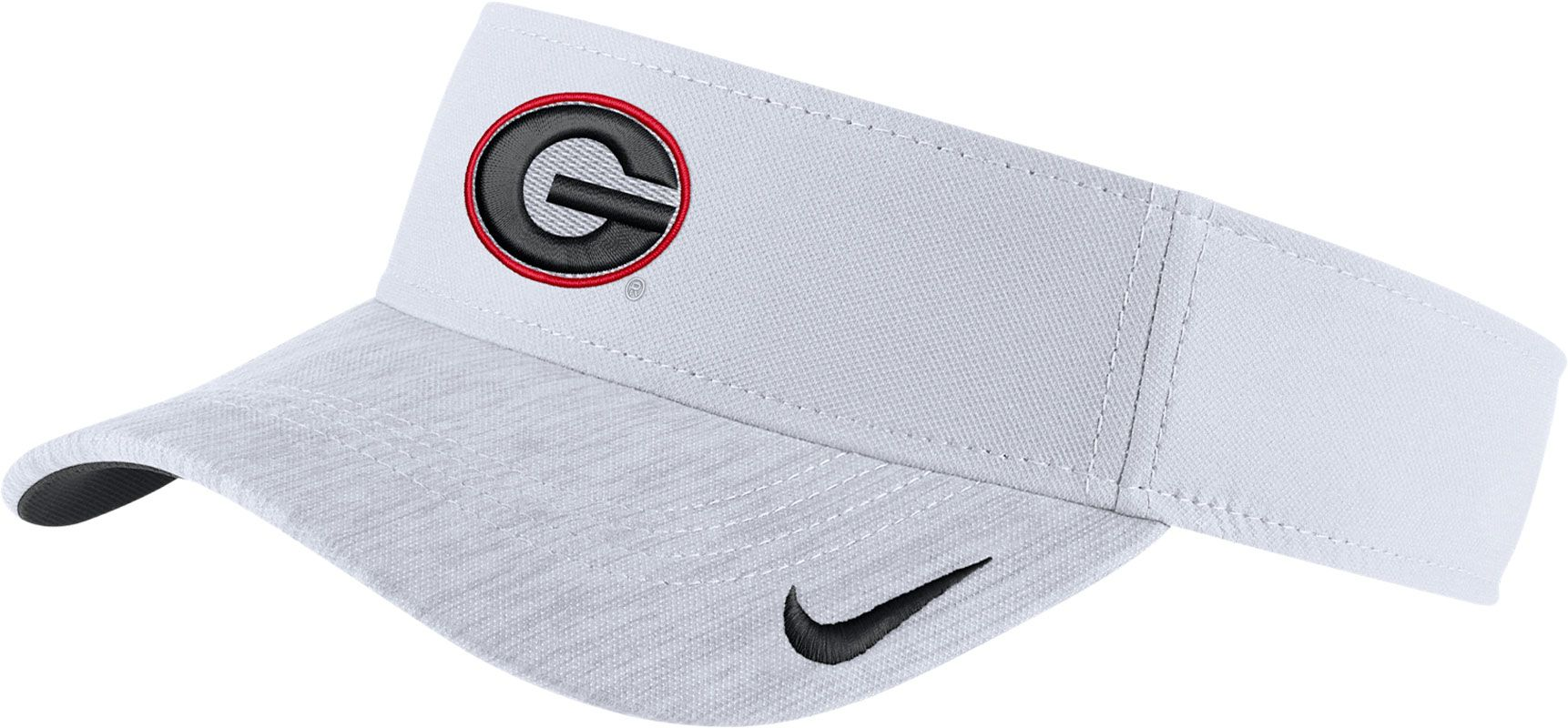 95c1a618223b3 ... best authentic 54f52 09952 Nike Mens Georgia Bulldogs White Aerobill  Football Sideline Visor ...