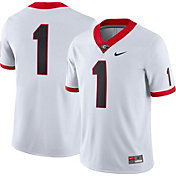 Nike Men's Georgia Bulldogs #1 Game Football White Jersey