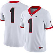Nike Men's Georgia Bulldogs #1 Dri-FIT Game Football White Jersey