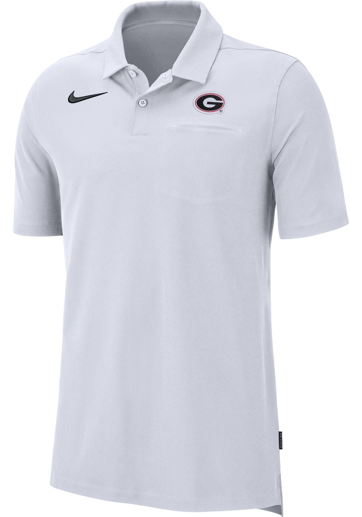 Nike Men's Georgia Bulldogs Dri-FIT Elite Football Sideline White Polo
