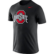 Nike Men's Ohio State Buckeyes Logo Dry Legend Black T-Shirt