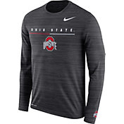 Nike Men's Ohio State Buckeyes Velocity Legend Graphic Long Sleeve Black T-Shirt