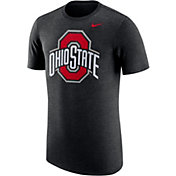 Nike Men's Ohio State Buckeyes Heathered  Vault Black Tri-Blend T-Shirt