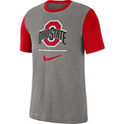 Nike Men's Ohio State Buckeyes Grey Dri-FIT Baseball Slub T-Shirt