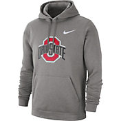 Nike Men's Ohio State Buckeyes Gray Club Fleece Pullover Hoodie
