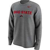 Nike Men's Ohio State Buckeyes Gray Lockup Long Sleeve Shirt