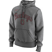 Nike Men's Ohio State Buckeyes Gray Retro Logo Basketball Hoodie