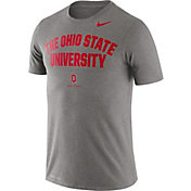 Nike Men's Ohio State Buckeyes Grey Dri-FIT Phrase T-Shirt