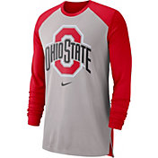 53a7bba6 Product Image · Nike Men's Ohio State Buckeyes Gray/Scarlet Breathe Long  Sleeve Shirt