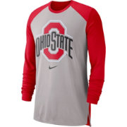 Nike Men's Ohio State Buckeyes Gray/Scarlet Breathe Long Sleeve Shirt
