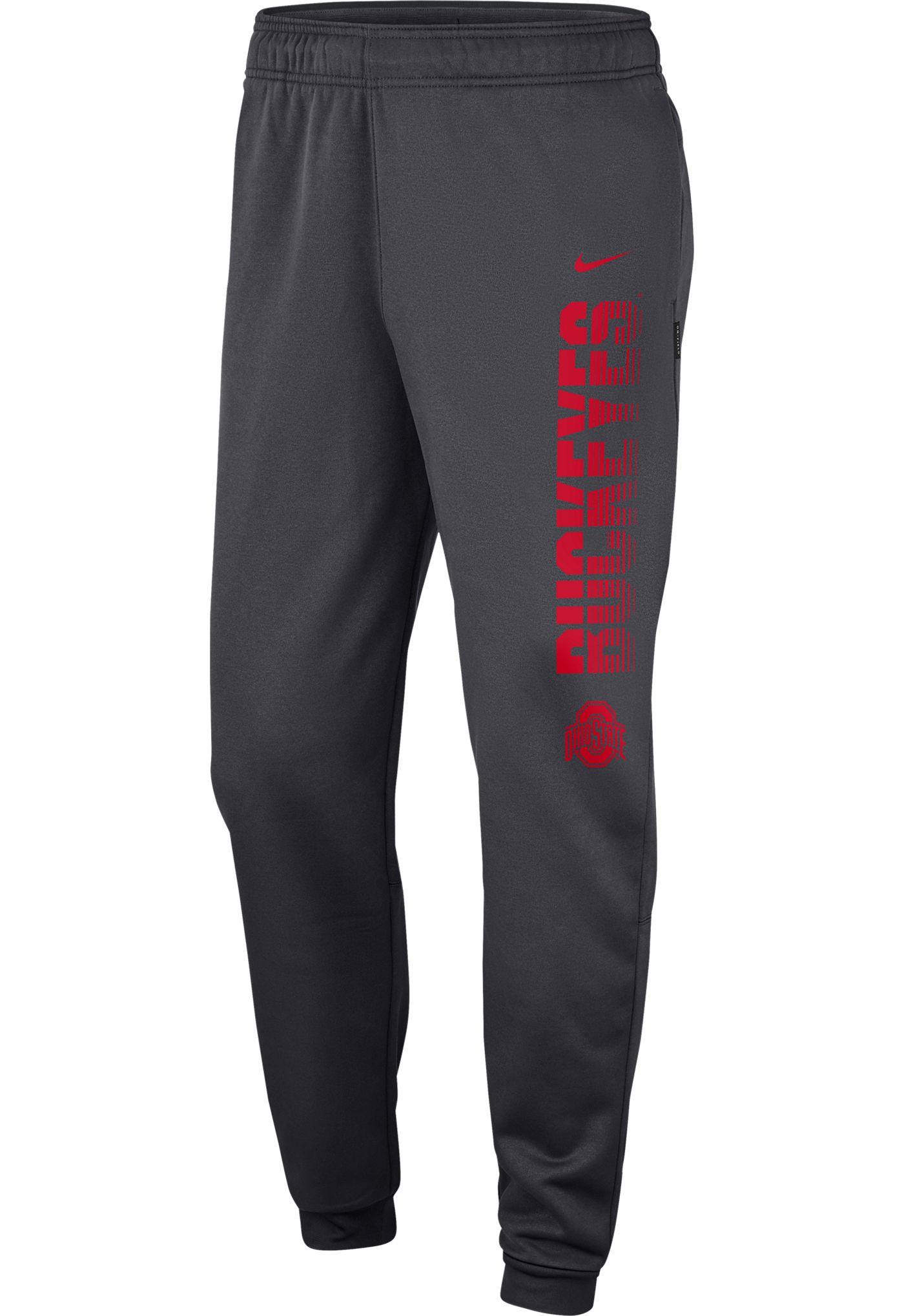 Nike Men's Ohio State Buckeyes Gray Therma Tapered Pants