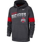 Nike Men's Ohio State Buckeyes Gray Therma Football Sideline Pullover Hoodie