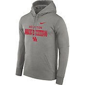 Nike Men's Houston Cougars Grey Therma-FIT Staff Pullover Hoodie
