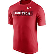 Nike Men's Houston Cougars Red Football Sideline Legend T-Shirt