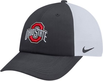 on sale e9892 67b5a ... authentic nike mens ohio state buckeyes anthracite heritage86  adjustable trucker hat 5b1f6 eb0f0