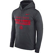 Nike Men's Ohio State Buckeyes Grey Therma-FIT Pullover Sideline Hoodie