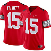 Nike Men's Ezekiel Elliott Ohio State Buckeyes #15 Scarlet Dri-FIT Game Football Jersey