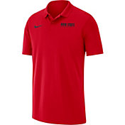 Nike Men's Ohio State Buckeyes Scarlet Victory Basketball Polo