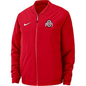 Nike Men's Ohio State Buckeyes Scarlet Bomber Full-Zip Jacket