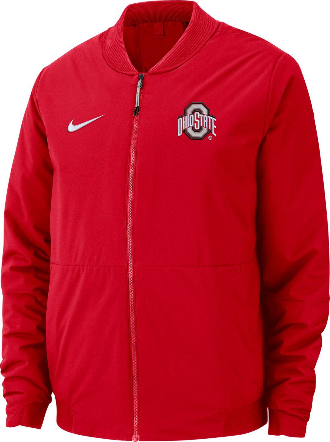 pretty nice 1eda3 b6bed Nike Men s Ohio State Buckeyes Scarlet Bomber Full-Zip Jacket 1