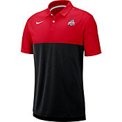 Nike Men's Ohio State Buckeyes Scarlet/Black Dri-FIT Breathe Football Sideline Polo
