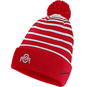Nike Men's Ohio State Buckeyes Scarlet Football Sideline Cuffed Pom Beanie
