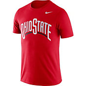 Nike Men's Ohio State Buckeyes Scarlet Dri-FIT Cotton Word T-Shirt