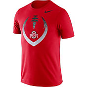 Nike Men's Ohio State Buckeyes Scarlet Dri-FIT Cotton Football Icon T-Shirt