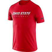 Nike Men's Ohio State Buckeyes Scarlet Football Dri-FIT Cotton Facility T-Shirt