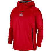 Nike Men's Ohio State Buckeyes Scarlet Pullover Fly Rush Jacket
