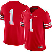 Nike Men's Ohio State Buckeyes #1 Scarlet Dri-FIT Game Football Jersey