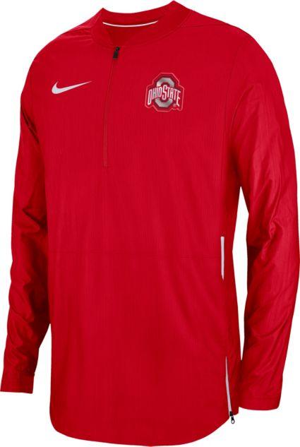 Nike Men s Ohio State Buckeyes Scarlet Lockdown Football Quarter-Zip  Jacket. noImageFound f7d262739