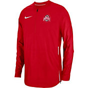 Nike Men's Ohio State Buckeyes Scarlet Lockdown Football Quarter-Zip Jacket