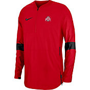 Nike Men's Ohio State Buckeyes Scarlet Lockdown Half-Zip Football Jacket