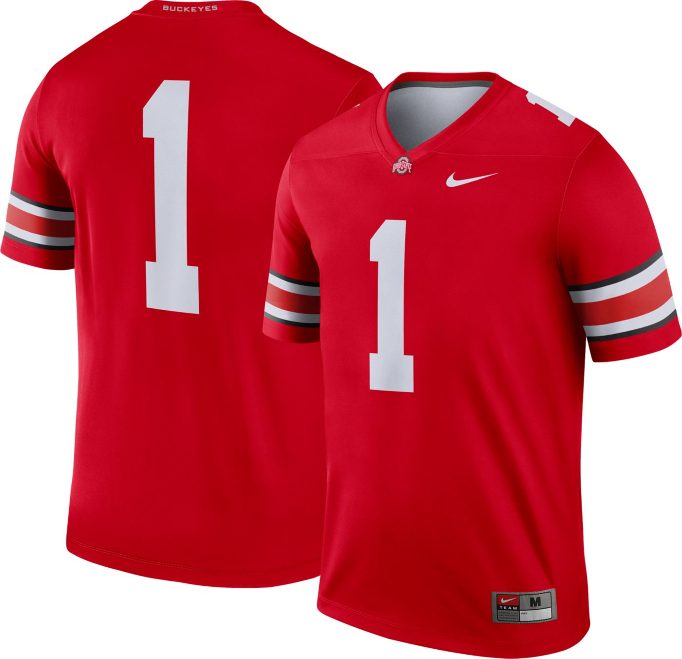 Nike Men's Ohio State Buckeyes #1 Scarlet Dri-FIT Legend Football Jersey