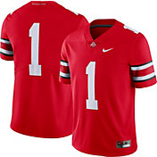 Nike Men's Ohio State Buckeyes #1 Scarlet Dri-FIT Limited Football Jersey
