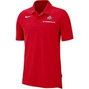 Nike Men's Ohio State Buckeyes Scarlet Dri-FIT Elite Football Sideline Polo
