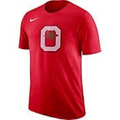 Nike Men's Ohio State Buckeyes Scarlet Retro Logo Basketball T-Shirt