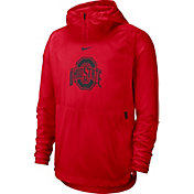 Nike Men's Ohio State Buckeyes Scarlet Repel Football Sideline Player Pullover Hoodie