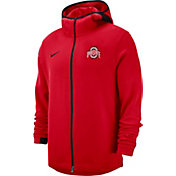 Nike Men's Ohio State Buckeyes Red Dri-FIT Showtime Full-Zip Basketball Hoodie