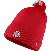 Nike Men's Ohio State Buckeyes Scarlet Football Sideline Pom Beanie