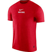 Nike Men's Ohio State Buckeyes Scarlet Dri-FIT Coach UV Football T-Shirt