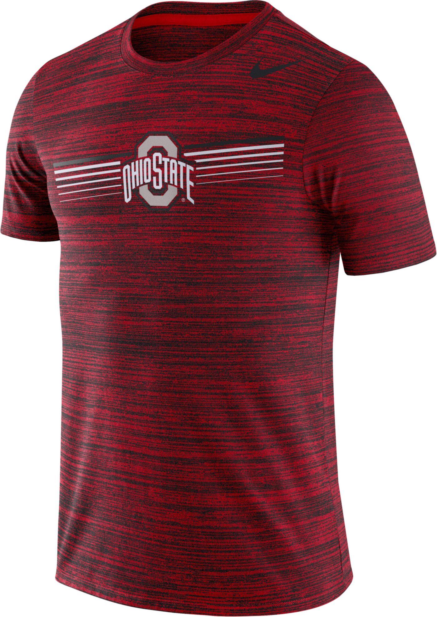 Nike Men's Ohio State Buckeyes Scarlet Velocity Legend Graphic T-Shirt